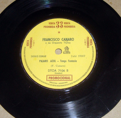 francisco canaro pajaro azul simple
