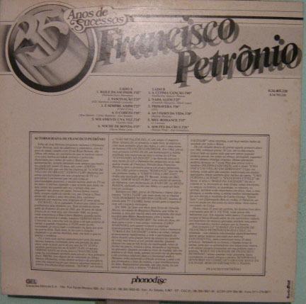 francisco petrônio - 25 anos de sucessos - 1986