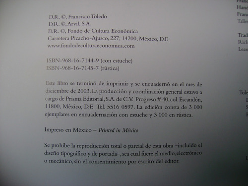 francisco toledo libreta de apuntes /sketchbooklibro firmado