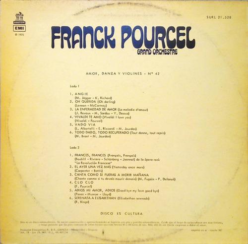 franck pourcel lp 1974 amor, danza y violines nº 42 12810