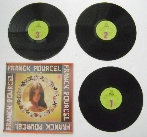 franck pourcel y su gran orquesta 3 discos  lp vinil