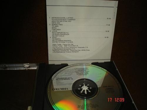 franco de vita  - cd album  - en vivo - marzo 16