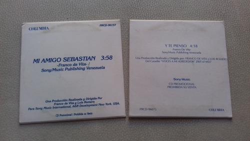 franco de vita lote de dvd y 2 cd singles promocionales