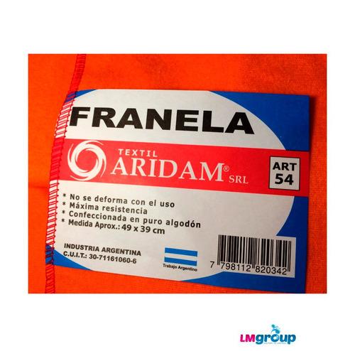 franela 50 x 40 12 unidades envio gratis todo caba
