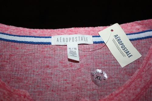 franela aeropostale original acanalada en algodon xl
