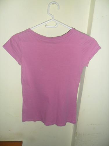 franela color morado talla 12 para niñas en algodón