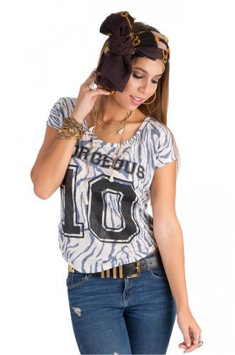 franela corta saints clothes zebra 10 gorgeous azul