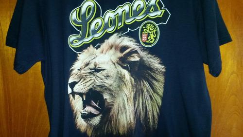 franela de los leones del caracas t16 - usada