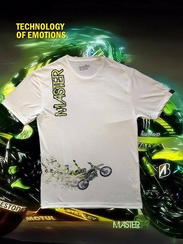 franela moto master, enduro, motocross, racing, 100% algodon