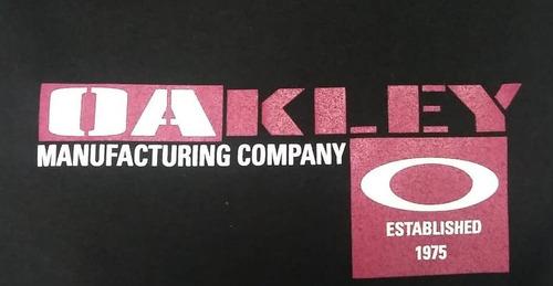 franela oakley blocks black s, m, l, xl. (letras vinotinto)
