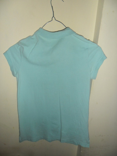 franela tipo chemisse azul aguamarina talla 10 x niñas