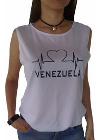 bf2f9e93b Franela Venezuela Blusa Dama Franelas Ropa Estampadas Moda