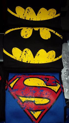 franelas algodon adulto, sweters estampados superman, batman