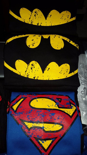 franelas algodon sweters estampados superman, batman, got