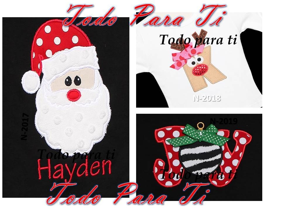 Franelas Bordadas Navideñas Mickey Mouse, Papa Noel Y Más - Bs ...