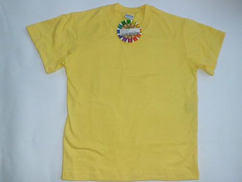 franelas colegiales amarillas talla 6 marca tutti fruti