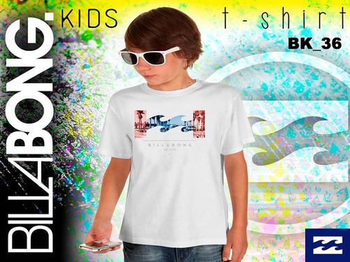 franelas de niños  quiksilver y billabong 100% originales