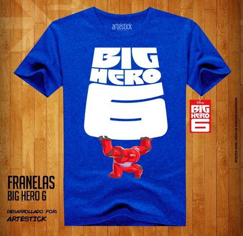 franelas estampadas big hero 6, grandes heroes, hiro, baymax