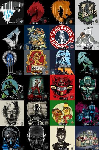 franelas games of thrones, star wars, comics, personalizadas