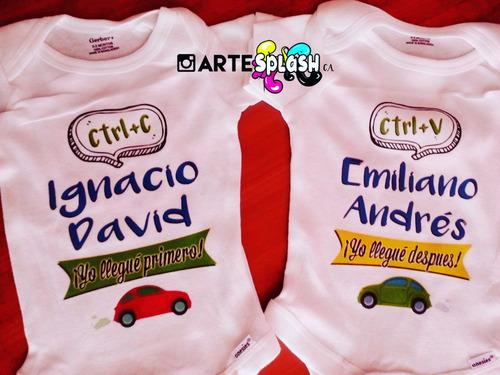 franelas infantiles niños niñas bebes personalizadas algodon