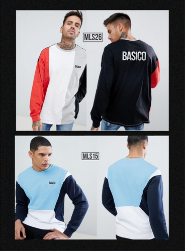 franelas long sleeve caballero basico clothing lineas