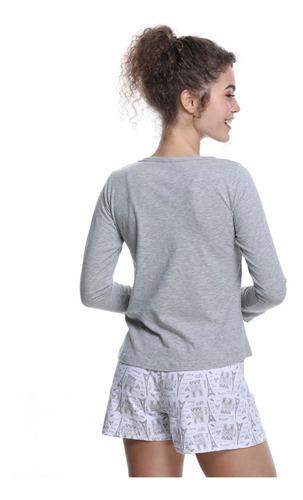 franelas manga larga de pijamas para damas fru fru nav19t008