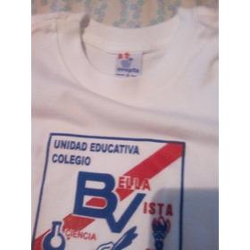 Franelas Ovejita Con Logo Del Colegio Bella Vista