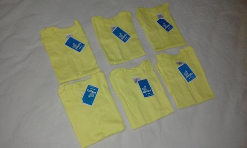franelas ovejita talla 2 escolar color amarillo unisex
