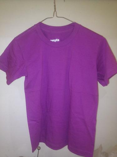 franelas ovejita unicolor violeta cuello redondo algodon