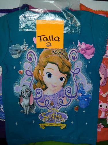 franelas para niñas comics talla 2 ,100% algodon variadas