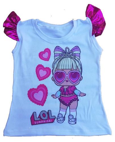 franelas para niñas lol algodon   blusas