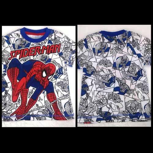 franelas para niños avenger, spiderman, liga de la justicia
