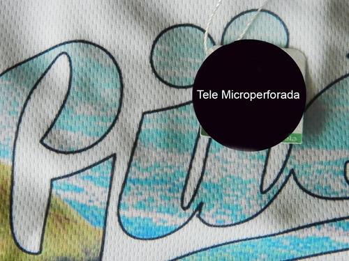 franelas poliester tela atletica microperforada sublimacion