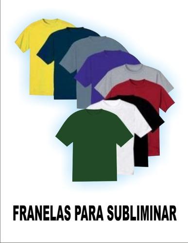 franelas unicolores hilo 20.1