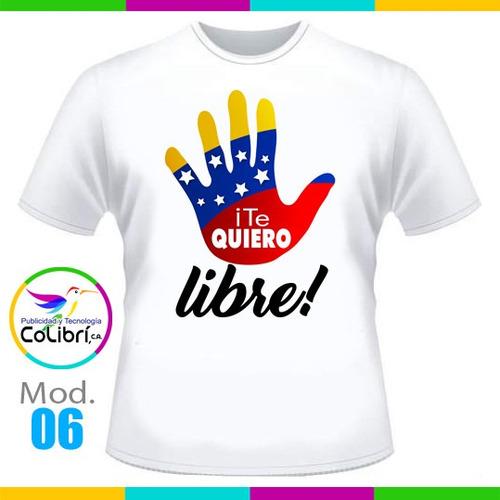franelas venezuela sublimadas en muselina blanca