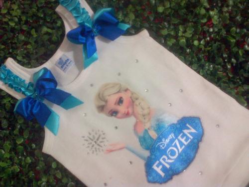 franelilla decorada para niñas soy luna peppa pig frozen etc