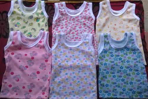 franelillas camiseta almilla bebes recien nacid (3 unidades)