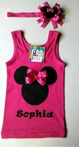 franelillas decoradas para niñas y bebes con su cintillo