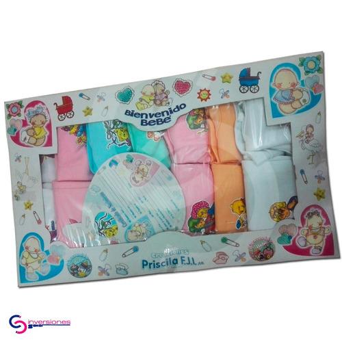 franelillas para bebés y mono bebe 14 piezas semanario
