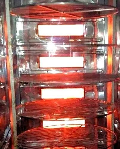 frangueira à gás giratória 160kg ou 60 frangos + brinde