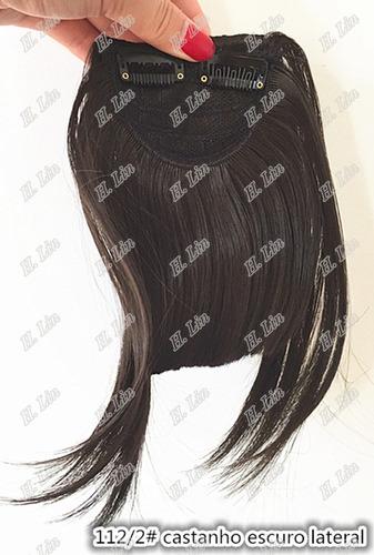 franja fibra japonesa tic tac cor 2 castanho escuro lateral