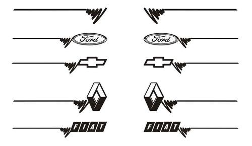 franja lateral 05 (1 par) calcos ploteados graficastuning
