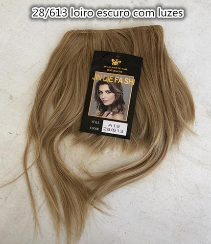 franja tic tac cabelo organico cor 28t613 loiro escuro luzes