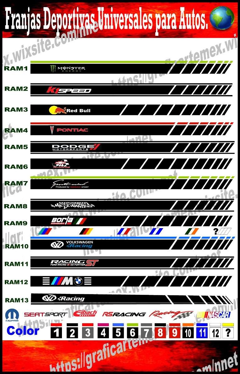 Franjas Deportivas Para Autos Deportivos Stickers De Carros Cargando Zoom