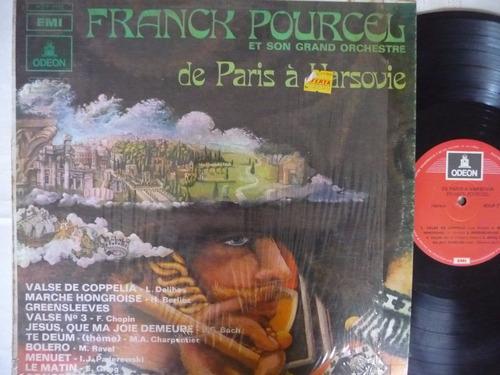 frank pourcel/de parís a varsovia/disco vinilo