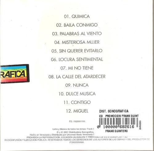 frank quintero - exitos (cd como nuevo impecable)