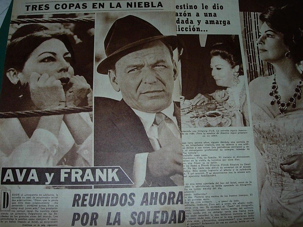 Frank Sinatra Ava Gardner Clipping Revista Radiolandia 11120