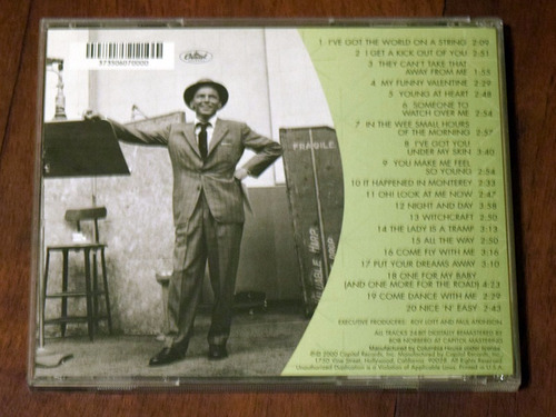 frank sinatra classic his great perfomances cd importado