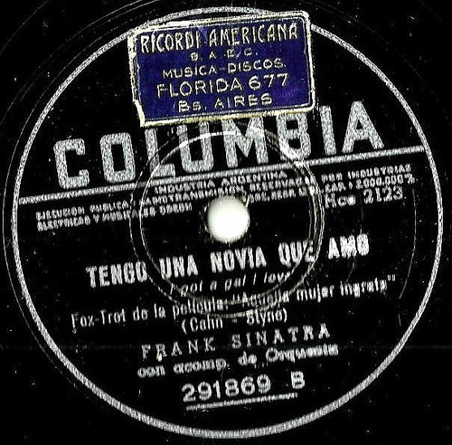 frank sinatra    -   columbia 291869   -   78 r. p. m.