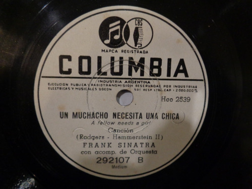 frank sinatra disco pasta 78 para ahora mismo